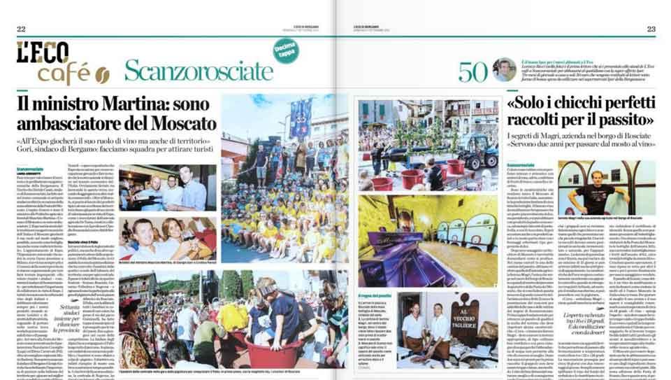L'Eco di Bergamo 7 settembre 2014